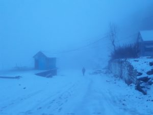 horror, travel, north, mountains, travel, trip, scary, night, snow